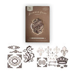 Tattered Angels - Creme de Cocoa Glimmer Chips - Self Adhesive Chipboard Ornaments - Regal, CLEARANCE