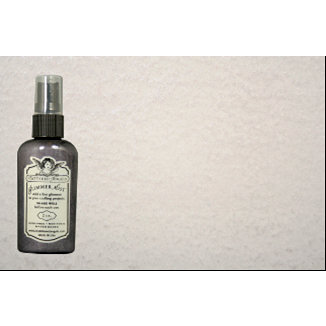 Tattered Angels - Heidi Swapp Collection - Glimmer Mist Spray - 2 Ounce Bottle - Silver Sugar