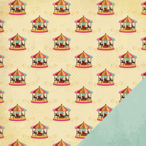 Three Bugs In a Rug - Ashtyn Collection - 12 x 12 Double Sided Paper - Carousel