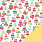 Three Bugs In a Rug - Bake Me a Cake Collection - 12 x 12 Double Sided Paper - Eat Cake