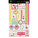 Three Bugs In a Rug - Bake Me a Cake Collection - Cardstock Stickers - Chit Chat