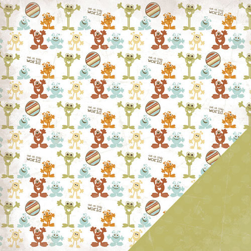 Three Bugs In a Rug - Blast Off Collection - 12 x 12 Double Sided Paper - Aliens