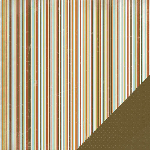 Three Bugs In a Rug - Blast Off Collection - 12 x 12 Double Sided Paper - Stripe