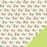 Three Bugs In a Rug - Chloe Collection - 12 x 12 Double Sided Paper - Bicycle