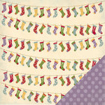 Three Bugs In a Rug - Deck the Halls Collection - Christmas - 12 x 12 Double Sided Paper - Stockings