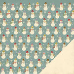 Three Bugs In a Rug - Deck the Halls Collection - Christmas - 12 x 12 Double Sided Paper - Snowman