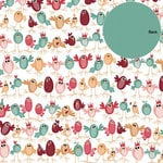 Three Bugs In a Rug - Happy Bird-Day Collection - 12 x 12 Double Sided Paper - Birds Of a Feather