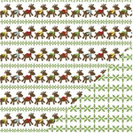 Three Bugs In a Rug - Let It Snow Collection - Christmas - 12 x 12 Double Sided Paper - Reindeer, CLEARANCE