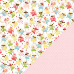Three Bugs In a Rug - Savannah Collection - 12 x 12 Double Sided Paper - Fairy Princess, BRAND NEW