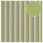 Three Bugs In a Rug - Snips and Snails Collection - 12 x 12 Double Sided Paper - Stripe