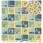 Three Bugs In a Rug - Snips and Snails Collection - 12 x 12 Double Sided Paper - Blocks, CLEARANCE