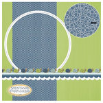 Three Bugs In a Rug - Snips and Snails Collection - 12 x 12 Double Sided Paper - Snails