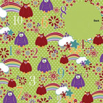 Three Bugs In a Rug - What a Hoot Collection - 12 x 12 Double Sided Paper - Cloud 9, CLEARANCE