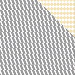 Teresa Collins - Glam Factor Collection - 12 x 12 Double Sided Paper - Herringbone