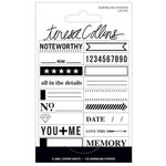 Teresa Collins - Signature Essentials Collection - Matchbook Stickers - Journaling
