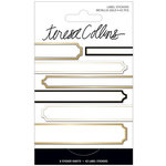 Teresa Collins - Signature Essentials Collection - Matchbook Stickers - Labels - Gold