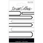 Teresa Collins - Signature Essentials Collection - Matchbook Stickers - Labels - Black