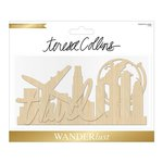 Teresa Collins - Wanderlust Collection - Wood Die Cuts