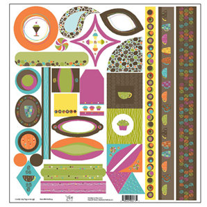 TaDa Creative Studios - Abode a La Mode Collection - 12 x 12 Die Cut Paper - Tag-a-ma-jigs 2