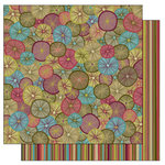 TaDa Creative Studios - Bountiful Blooms Collection - 12 x 12 Double Sided Paper - Kaleidoscope, CLEARANCE