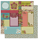 TaDa Creative Studios - Bountiful Blooms Collection - 12 x 12 Double Sided Paper - Snippets and Clippets, CLEARANCE
