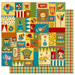 TaDa Creative Studios - The Big Top Collection - 12 x 12 Double Sided Paper - Balancing Act, BRAND NEW