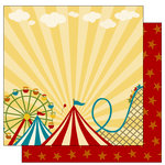 TaDa Creative Studios - The Big Top Collection - 12 x 12 Double Sided Paper - Step Right Up, BRAND NEW