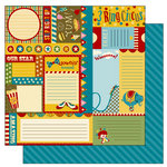 TaDa Creative Studios - The Big Top Collection - 12 x 12 Double Sided Paper - Snippets and Clippets