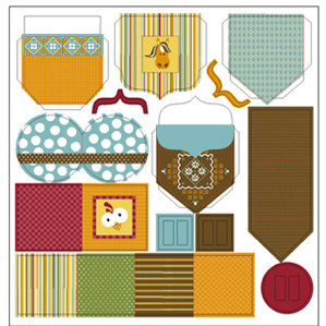 TaDa Creative Studios - E-I-E-I-O Collection - 12 x 12 Die Cut Paper - Pocket Notes