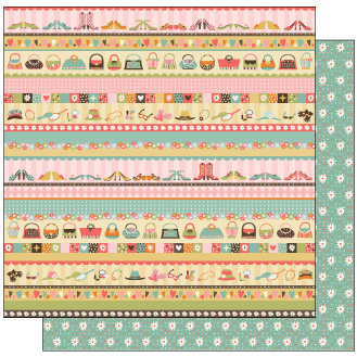 TaDa Creative Studios - Goody Two Shoes Collection - 12 x 12 Double Sided Paper - Mommy's Closet