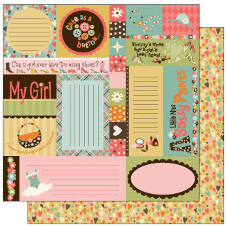 TaDa Creative Studios - Goody Two Shoes Collection - 12 x 12 Double Sided Paper - Snippets and Clippets