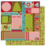 TaDa Creative Studios - Jolly Holly Days Collection - 12 x 12 Double Sided Paper - Snippets and Clippets, CLEARANCE