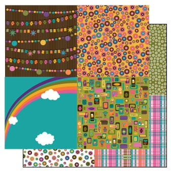 TaDa Creative Studios - Sizzlin' Summer Collection - 12 x 12 Double Sided Paper - Mini Mes
