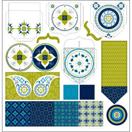 TaDa Creative Studios - Whirly Gig Collection - 12 x 12 Die Cut Paper - Pocket Notes
