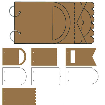 Tinkering Ink - Peekaboo Album - 6x12 Chipboard and Acrylic Album - Graduated, CLEARANCE