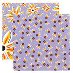 Tinkering Ink - Beau Jardin Collection - 12 x 12 Double Sided Paper - Clematis, CLEARANCE