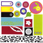 Tinkering Ink - Retro Metro Collection - Tabs and Tags Die Cuts, CLEARANCE