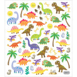 Sticker King - Clear Stickers with Foil Accents - Dinos