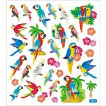 Sticker King - Clear Stickers - Parrots