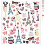 Sticker King - Clear Stickers with Foil Accents - Bonjour!