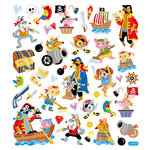 Sticker King - Clear Stickers - Animal Pirates