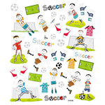 Sticker King - Cardstock Stickers with Foil Accents - Soccer Fun