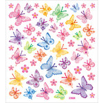 Sticker King - Clear Stickers with Glitter Accents - Bright Wings