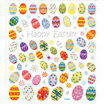 Sticker King - Clear Stickers - Happy Easter Eggs