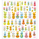Sticker King - Clear Stickers with Glitter Accents - Bunny Art