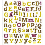 Sticker King - Clear Stickers with Glitter Accents - Leopard Print Alphabet