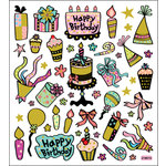 Sticker King - Clear Stickers - Birthday in Chocolate and Aqua