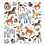 Sticker King - Clear Stickers with Glitter Accents - Horses