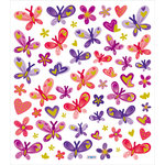 Sticker King - Clear Stickers - Butterflies in Reds and Purples