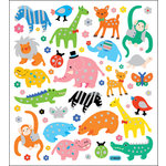Sticker King - Clear Stickers with Glitter Accents - Zoobies